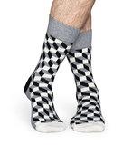 Happy Socks Filled Optic Sokken - Zwart/Wit/Grijs - Maat 41-46_