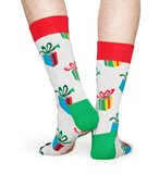 Happy Socks - Christmas - Present - Wit Multi - Unisex - maat 36-40 en 41-46_