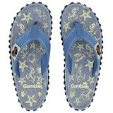 Gumbies - Teenslipper Dames - Seashell - blauw/geel_