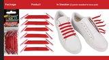 Ulace - Veters - voor sneakers met 6 gaatjes - Army Green - Elastiek_