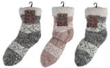 Apollo Huis sokken gevoerd grijs (one size 36/41)_