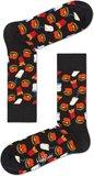 Happy Socks Hamburger Sokken zwart maat 36-40 en 41-46_