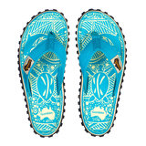 Islander Canvas Flip-Flops - Turquoise_