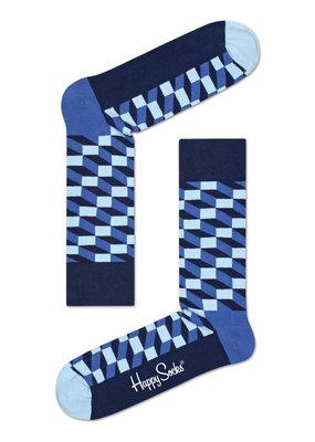 Happy Socks Optic Sokken - Blauw/Donkerblauw - Maat 41-46