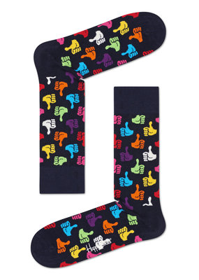 Happy Socks Thumbs UP - blauw multi - maat 36-40 en 41-46