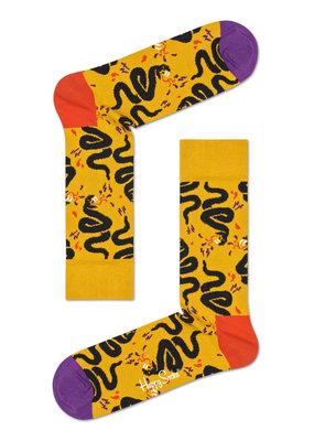 Happy Socks Snake - geel - Maat 36-40
