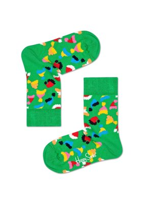 Happy Socks KIDS - Santa's Hat - Groen multi - 0-12 maanden en 12-24 maanden