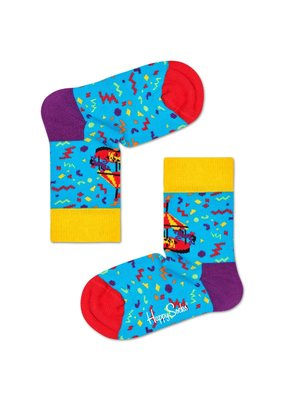 Happy Socks Kids - Carousel - blauw multi - Unisex- 2-3 jaar en 4-6 jaar