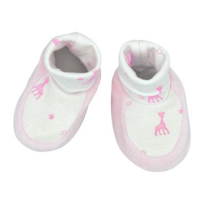 Sophie de giraf slofje wit/roze