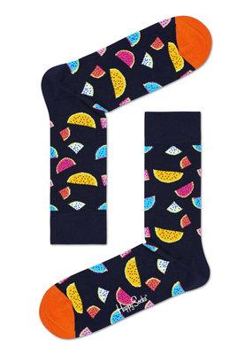Happy Socks - Watermelon - zwart Multi - Unisex - 36-40 en 41 46