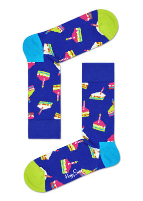 Happy Socks - Birthday Cake - blauw Multi - 36-40 en 41 46