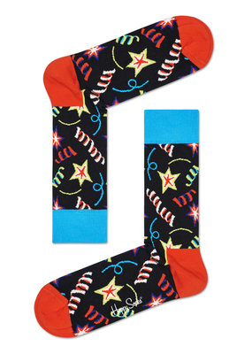 Happy Socks - Birthday Sparkle - Zwart Multi - Unisex - 36-40 en 41 46