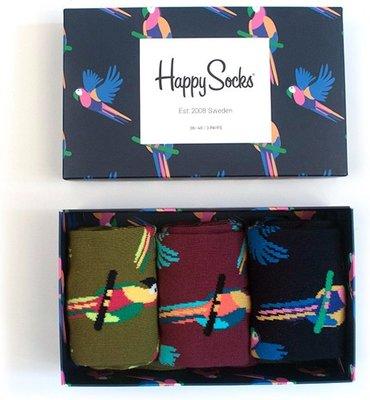 Happy Socks - Parrot - Giftbox - Unisex - 36-40 en 41 46