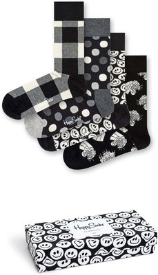 Happy Socks - Black & White - Giftbox - Unisex - 41 46