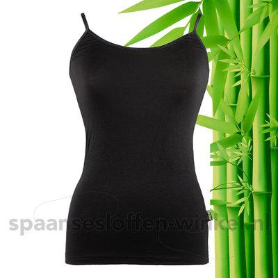 2 pack | Boru bamboo | onderhemd dames | spaghetti bandjes| Zwart
