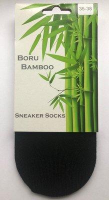 3 Pack | Boru Bamboo by Steps | Sneakersokken | Zwart | Unisex