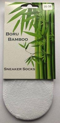 3 Pack | Boru Bamboo by Steps | Sneakersokken | wit | Unisex