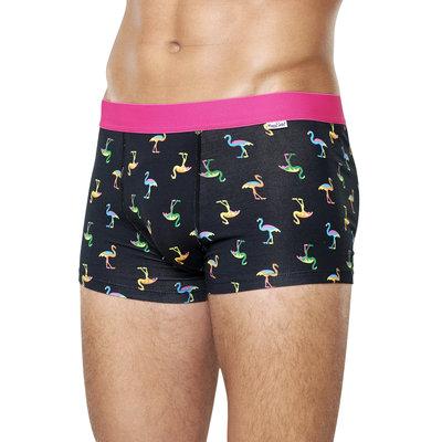 Happy Socks | Boxershort Heren | Flamingo | Zwart