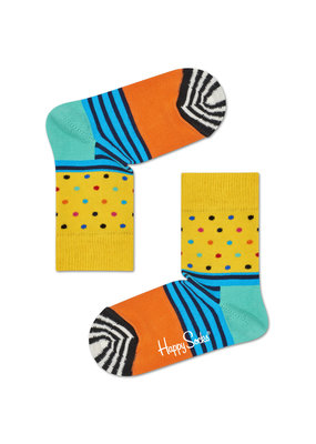 Happy Socks KIDS stripes and dots yellow
