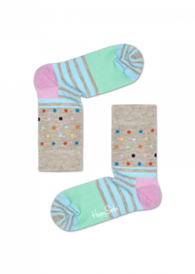 Happy Socks KIDS stripes and dots mint