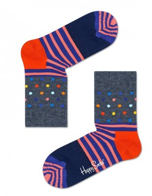 Happy Socks KIDS stripes and dots donker