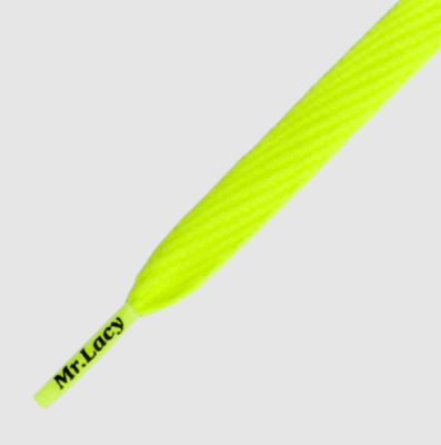 Mr. Lacy Flatties neon lime yellow  plat 130 cm