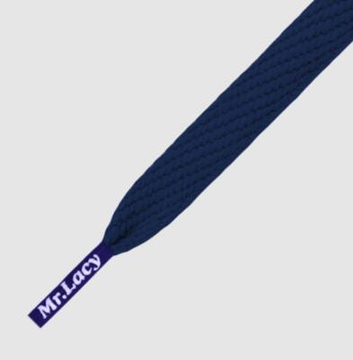 Mr. Lacy Flatties blauw plat 130 cm