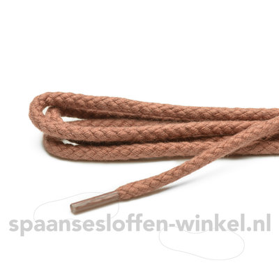 Cordial katoenen cognac  grof rond veters dikte 4 mm 120 cm