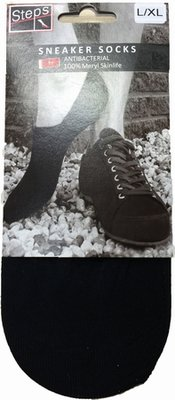 sokken sneaker zwart