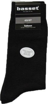 Basset zwarte sokken 47/50