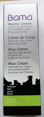 Bama waxcreme voor gevet leren schoenen, kleur zwart