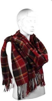 Heren sjaal bernardino cardif rood 200 cm