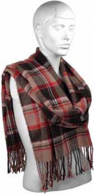 Heren sjaal bernardino cardif rood bruin 200 cm