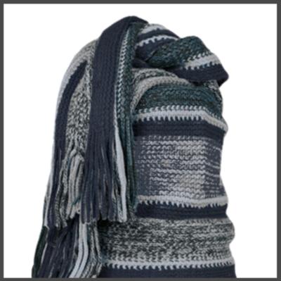 Sjaal, dames, Leoben kleur blauw, lengte 190 cm