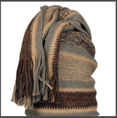 Sjaal, dames, Leoben kleur bruin, lengte 190 cm