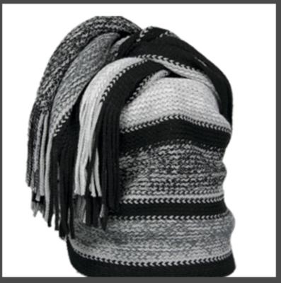 Sjaal, dames, Leoben kleur zwart, lengte 190 cm
