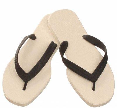 Sarraizienne Slippers Wit/Zwart Maat 36