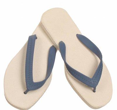 Sarraizienne Slippers wit/blauw