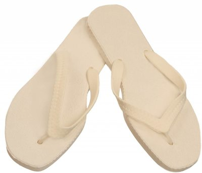 Sarraizienne Slippers wit/wit