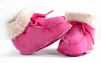 Baby slofjes roze bernardino