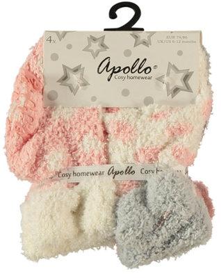 Baby- kinder sokken anti slip mint meisjes Apollo (4 paar)