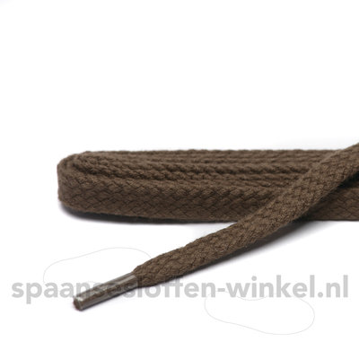 Cordial katoen donkerbruin plat dikte 1 mm 120 cm