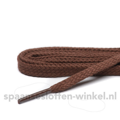 Cordial katoen middel bruin plat dikte 5 mm 120 cm