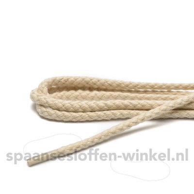 Cordial katoenen ecru grof rond veters dikte 4 mm 120 cm