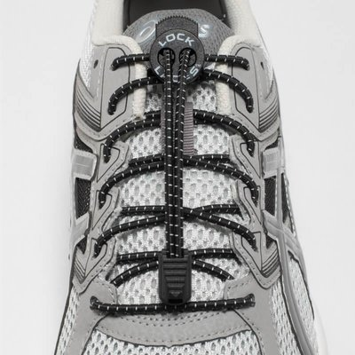 Lock Laces elastische veters zwart one size