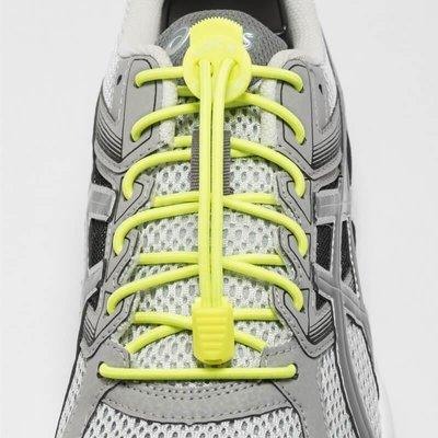 Lock Laces elastische veters neon lime yellow one size