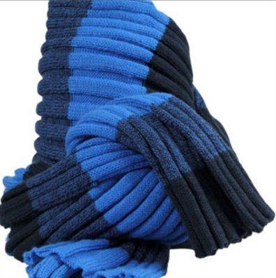 Sjaal heren bernadino block blauw 180 cm
