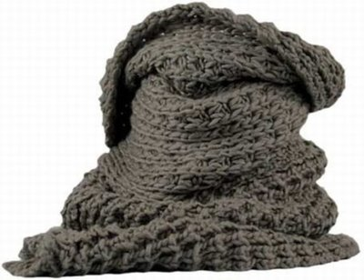 Ladies Scarf taupe Pointwick in the shape of a col