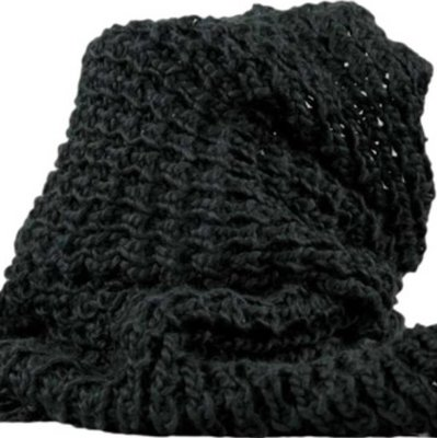 Ladies Scarf black Pointwick in the shape of a col