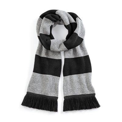 Sjaal beechfield zwart grijs 182 cm